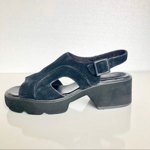 Hush Puppies Chunky Leather Platform Sandals 8.5